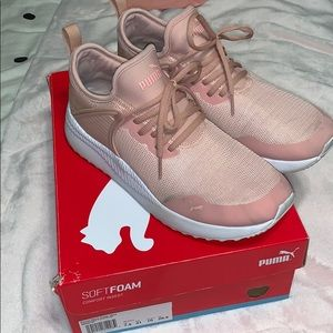 Women's light pink athletic shoes